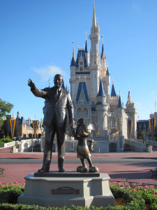 Walt and Mickey in WDW